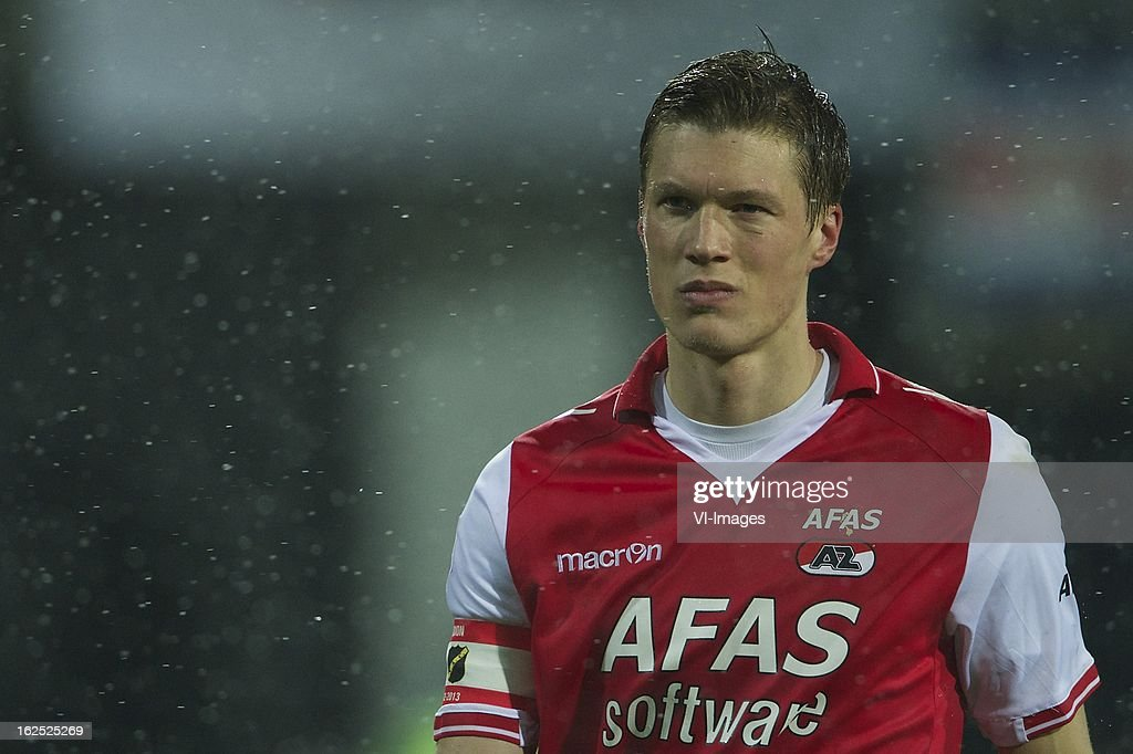 Viktor Elm of AZ during the Dutch Eredivisie Match between AZ Alkmaar and NAC Breda at the AFAS Stadium on february 24, 2013 in Alkmaar, The Netherlands