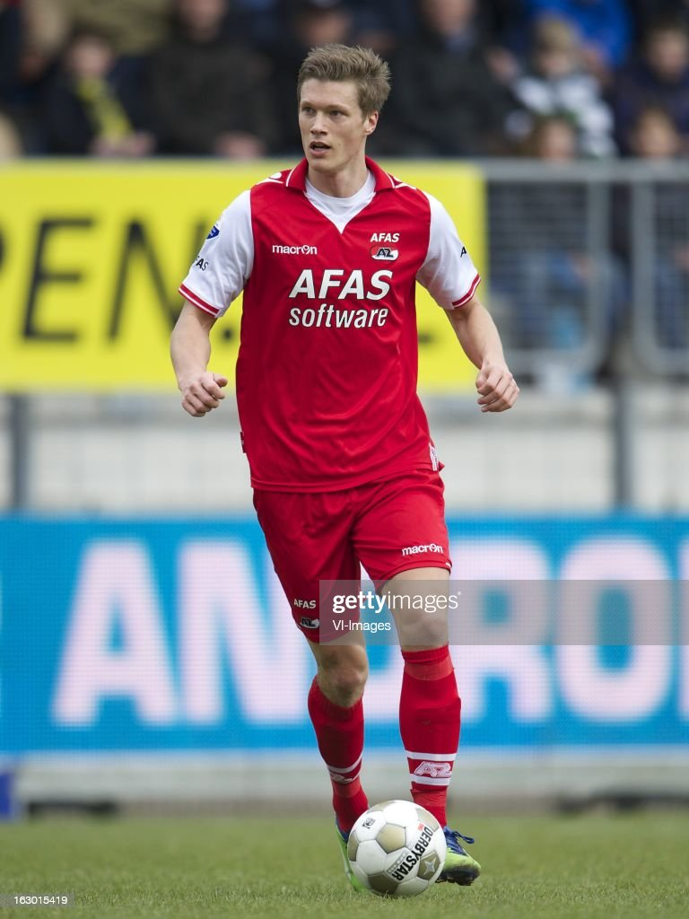 Viktor Elm of AZ during the Dutch Eredivisie match between RKC Waalwijk and AZ Alkmaar at the Mandemakers Stadiumon march 03, 2013 in Waalwijk, The Netherlands