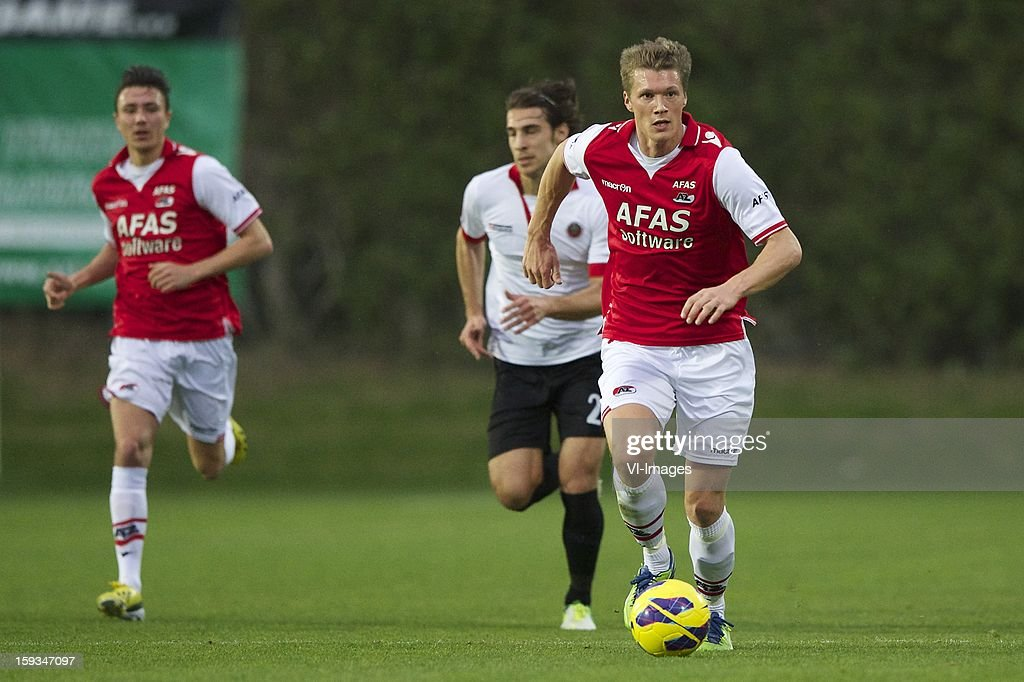 Viktor Elm of AZ during the friendly match between AZ Alkmaar and Genclerbirligi on January 12, 2013 at Belek, Turkey