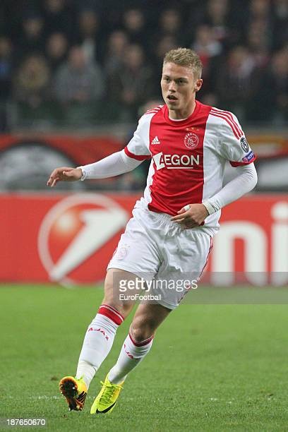 Viktor Fischer of AFC Ajax in action during the UEFA Champion League group stage match between AFC Ajax and Celtic FC held on November 6 2013 at the...