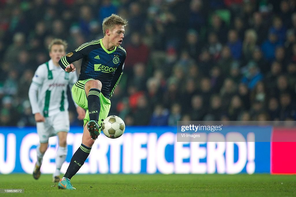 Viktor Fischer of Ajax during the Dutch Cup match between FC Groningen and Ajax Amsterdam at the Euroborg on December 20, 2012 in Groningen, The Netherlands.