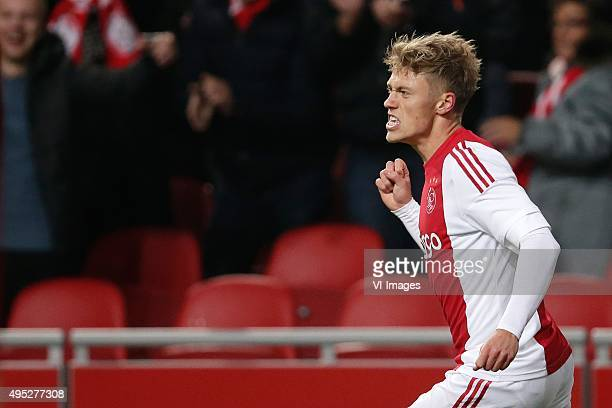 Viktor Fischer of Ajax during the Dutch Eredivisie match between Ajax Amsterdam and Roda JC Kerkrade at the Amsterdam Arena on October 31 2015 in...