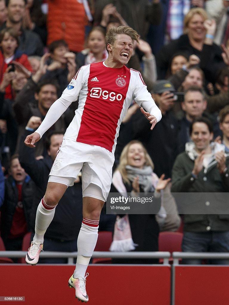 Viktor Fischer of Ajax during the Dutch Eredivisie match between Ajax Amsterdam and FC Twente at the Amsterdam Arena on May 01, 2016 in Amsterdam, The Netherlands