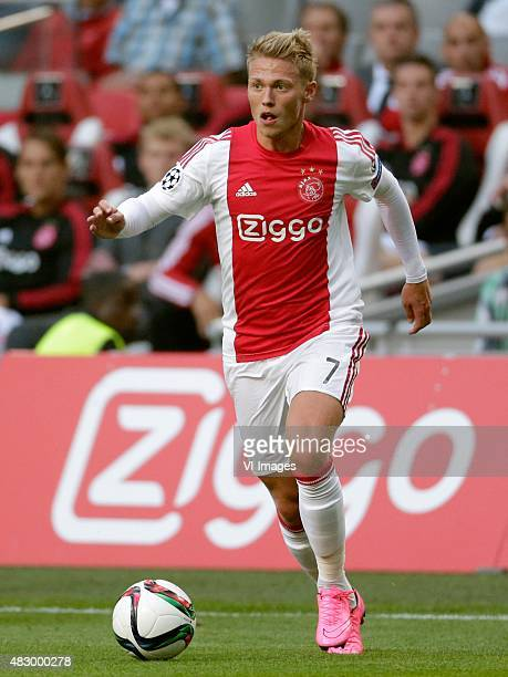 Viktor Fischer of Ajax during the UEFA Champions League third qualifying round match between Ajax and Rapid Wien on August 4 2015 at the Amsterdam...