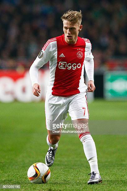 Viktor Fischer of Ajax in action during the group A UEFA Europa League match between AFC Ajax and Molde FK held at Amsterdam Arena on December 10...