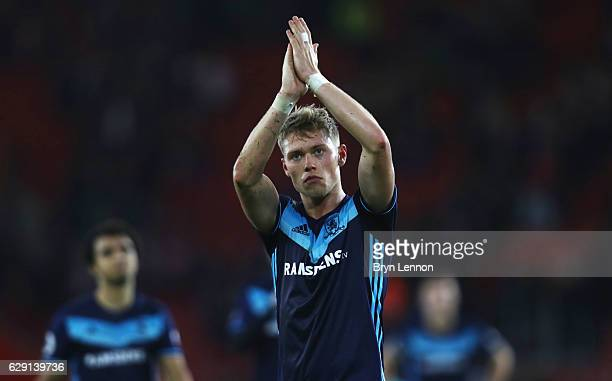 Viktor Fischer of Middlesbrough applauds fans following defeat in the Premier League match between Southampton and Middlesbrough at St Mary's Stadium...