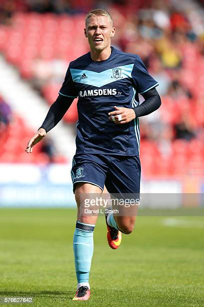 Viktor Fischer of Middlesbrough during the preseason friendly match between Doncaster Rovers and Middlesbrough at Keepmoat Stadium on July 16 2016 in...