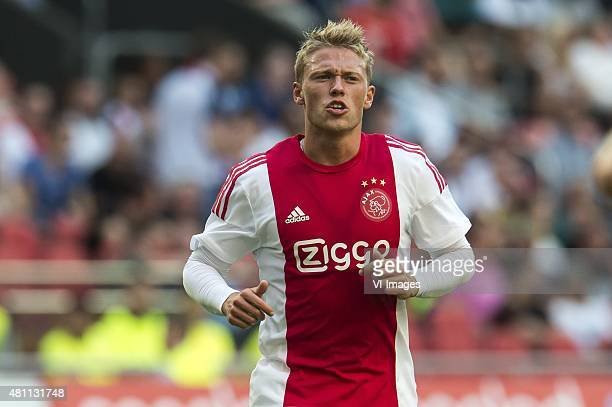 Viktor Fisher of Ajax during the preseason friendly match between Ajax Amsterdam and VfL Wolfsburg on July 17 2015 at the Amsterdam Arena at...