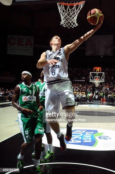 Viktor Gaddefors of Granarolo in action during the LegaBasket Serie A1 match between Granarolo Bologna and Sidigas Avellino at Unipol Arena on...