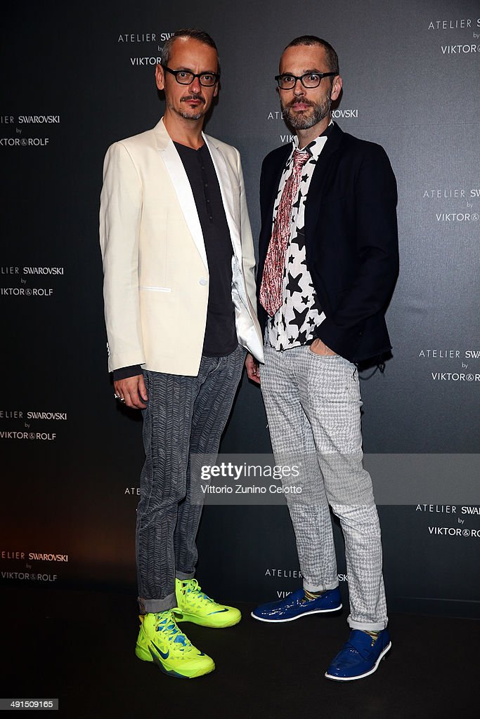 Viktor Horsting and Rolf Snoeren attend a party hosted by Swarovski and Viktor & Rolf during the 67th Annual Cannes Film Festival on May 16, 2014 in Cannes, France.