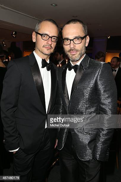 Viktor Horsting and Rolf Snoeren of Viktor Rolf attend the Annual Charity Dinner Hosted By The AEM Association Children Of The World For Rwanda on...