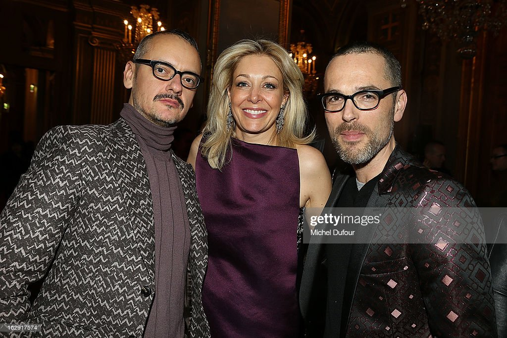 Viktor Horsting, Nadja Swarovski and Rolph Snoeren attend Swarovski 'Paris Haute Couture' Exhibition as part of Paris Fashion Week on February 28, 2013 in Paris, France.