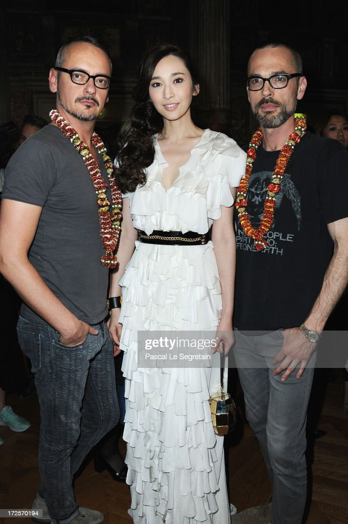 Viktor Horsting, Pace Wu and Rolf Snoeren attend the Viktor&Rolf show as part of Paris Fashion Week Haute-Couture Fall/Winter 2013-2014 at La Gaite Lyrique on July 3, 2013 in Paris, France.