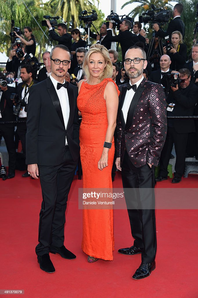 Viktor Horsting, Rolf Snoeren and Nadja Swarovski attend the 'How To Train Your Dragon 2' Premiere at the 67th Annual Cannes Film Festival on May 16, 2014 in Cannes, France.