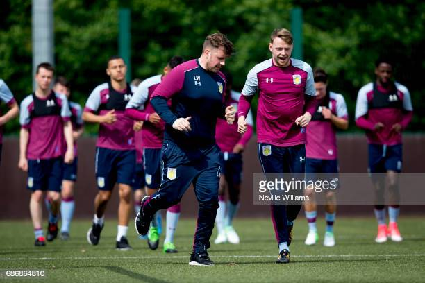 Viktor Johansson of Aston Villa in action during a Aston Villa U23's training session at the club's training ground at Bodymoor Heath on May 22 2017...