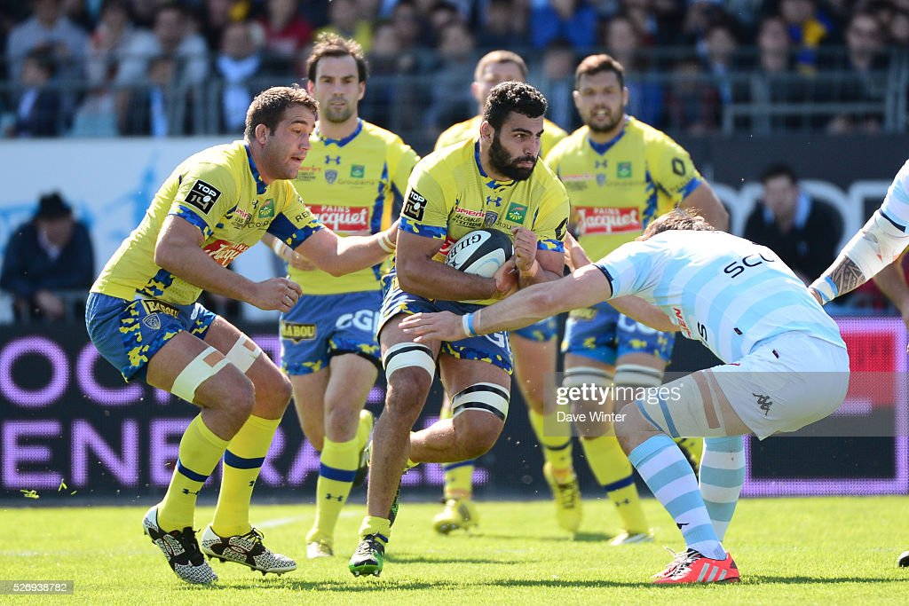 Viktor Kolelishvili of Clermont during the French Top 14 rugby union match between Racing 92 v Clermont at Stade Yves Du Manoir on May 1, 2016 in Colombes, France.