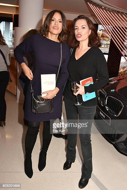 Viktor Lazlo and Sophie Obadia attend 'Le Prix Du Style 2016' Literary awards at BMW Brand Store GeorgesV on November 22 2016 in Paris France