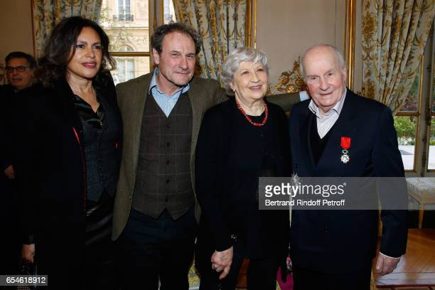Viktor Lazlo Francis Lombrail Juliette Carre and her husband Michel Bouquet attend Michel Bouquet is elevated to the Rank of 'Grand Officier de la...