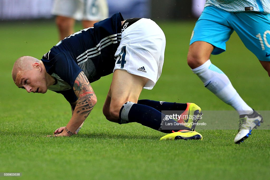 Viktor Nilsson Lindelof of Sweden during the international friendly match between Sweden and Slovenia on May 30, 2016 in Malmo, Sweden.