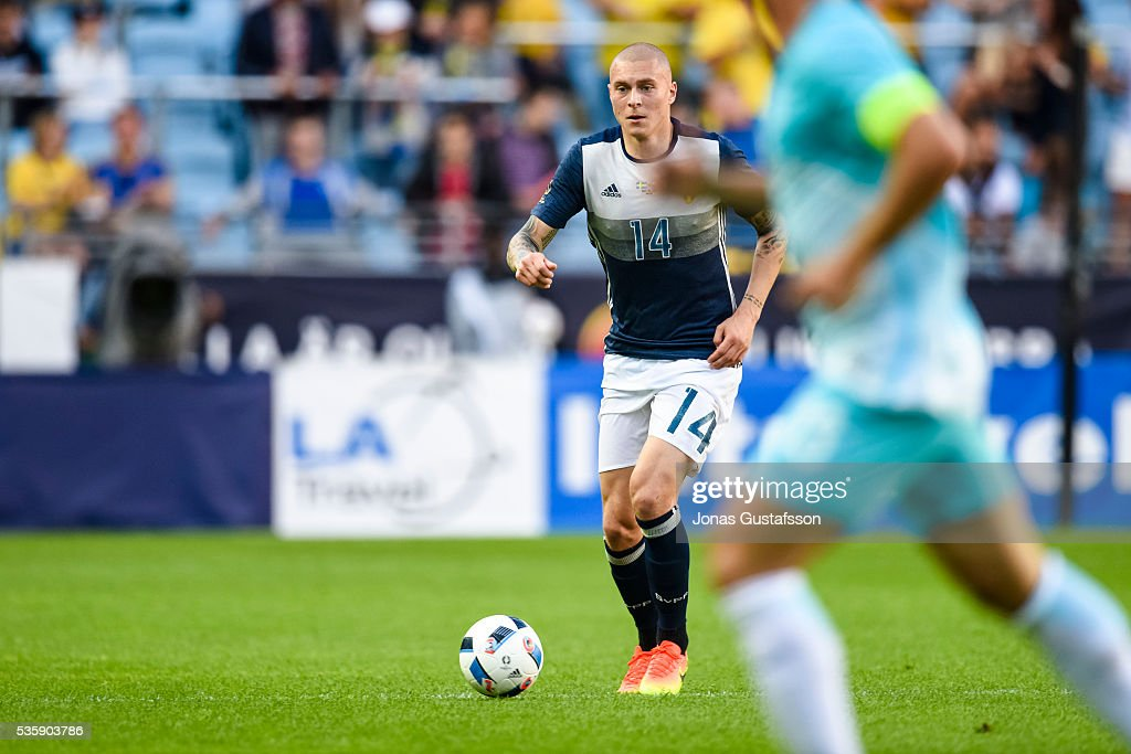 Viktor Nilsson Lindelof of Sweden during the international friendly match between Sweden and Slovenia May 30, 2016 in Malmo, Sweden.