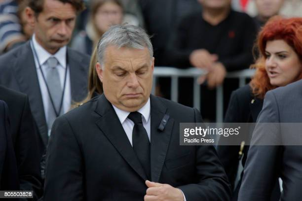 Viktor Orban the Prime Minister of Hungary arrives at the Speyer Cathedral A funeral mass for the former German Chancellor Helmut Kohl was held in...