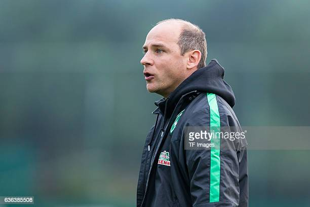 Viktor Skripnik of Werder Bremen looks on during the Friendly Match between SV Werder Bremen and FC Erzgebirge Aue on January 10 2016 in Belek Turkey