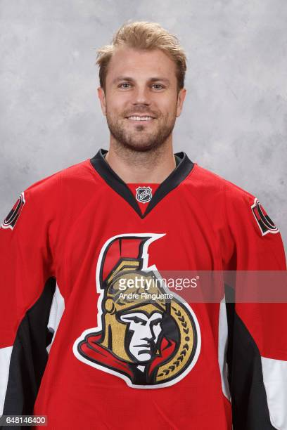 Viktor Stalberg of the Ottawa Senators poses for his official headshot prior to a game against the Colorado Avalanche at Canadian Tire Centre on...