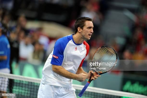 Viktor TROICKI Double France / Serbie Finale Coupe Davis 2010 Belgrade Serbie
