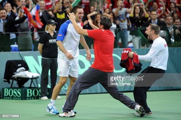 Viktor Troicki 3e simple France / Serbie Finale Coupe Davis 2010 Belgrade Serbie
