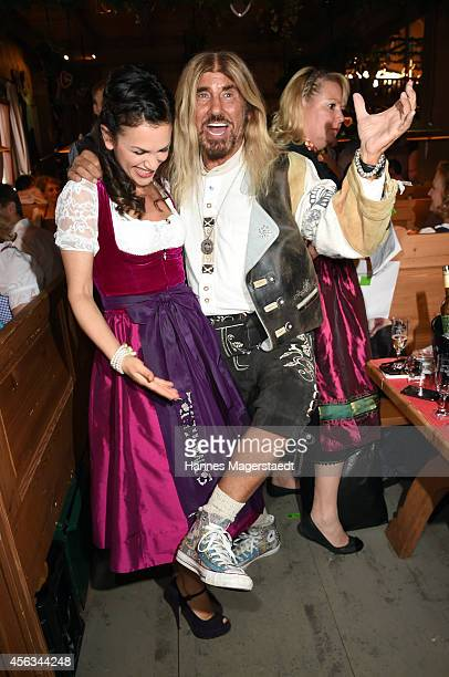 Viktoria Lauterbach and Abi Ofarim attend the Sauerland Wiesn at Weinzelt during Oktoberfest at Theresienwiese on September 29 2014 in Munich Germany