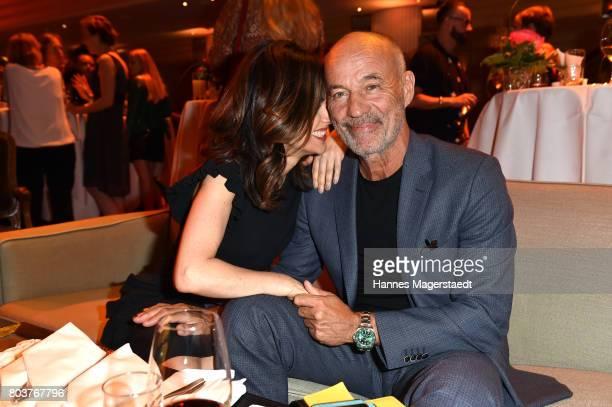 Viktoria Lauterbach and her husband Heiner Lauterbach attend the Bernhard Wicki Award 2017 during the Munich Film Festival 2017 at Bayerischer Hof on...