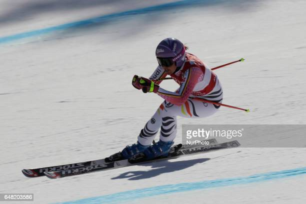 Viktoria of Germany action during an AUDI FIS SKI WORLD CUP 2016/17 Jeongseon in Pyeong Chang South Korea