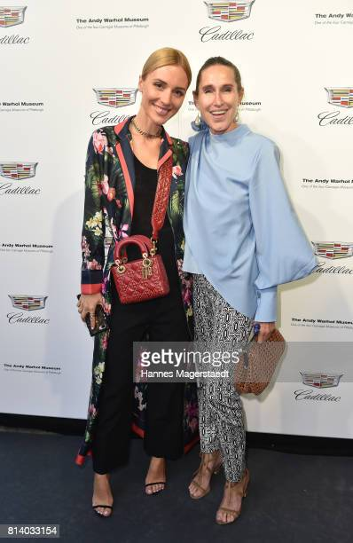 Viktoria Rader and Annette Weber attend the Cadillac House Opening at Deutsches Museum on July 13 2017 in Munich Germany