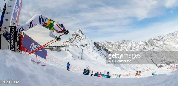 Viktoria Rebensburg of Germany competes duirng the women's Giant Slalom event of the FIS ski World cup in Soelden Austria on October 28 2017 Viktoria...