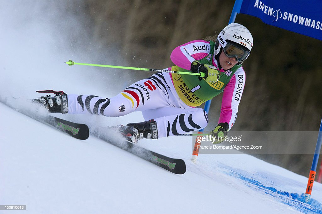 Viktoria Rebensburg of Germany competes during the Audi FIS Alpine Ski World Cup Women's Giant Slalom on November 24, 2012 in Aspen, Colorado.