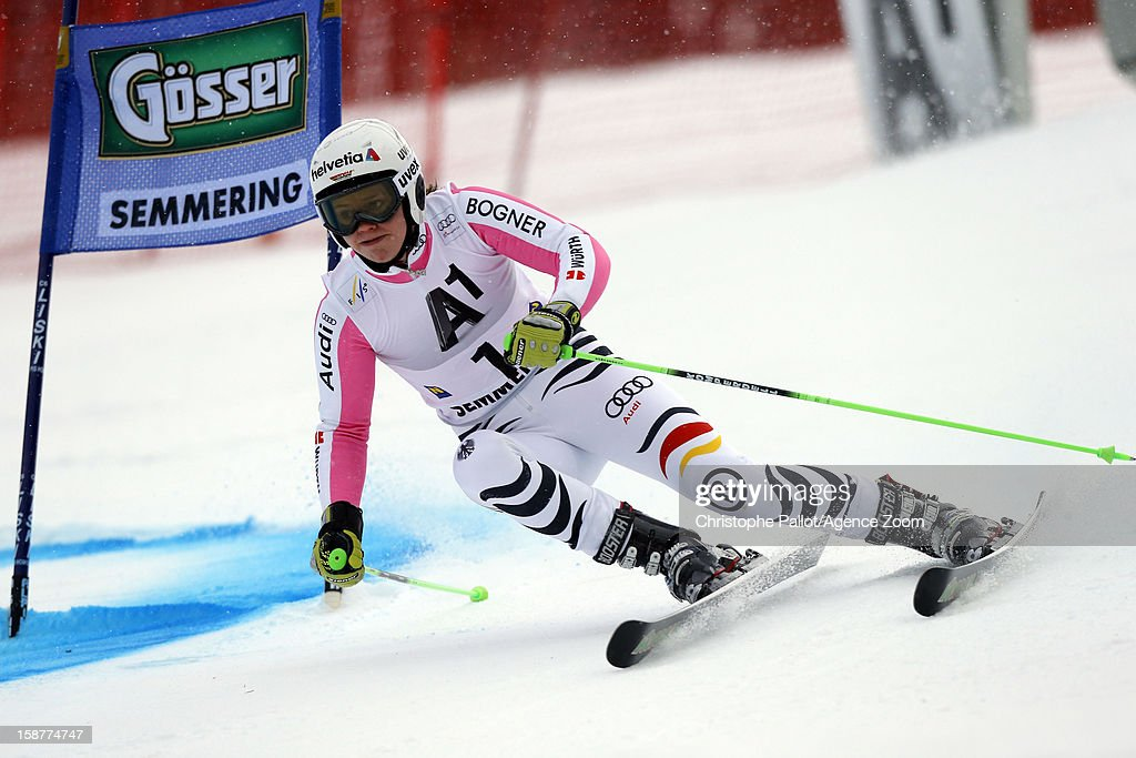 <a gi-track='captionPersonalityLinkClicked' href=/galleries/search?phrase=Viktoria+Rebensburg&family=editorial&specificpeople=4152387 ng-click='$event.stopPropagation()'>Viktoria Rebensburg</a> of Germany competes during the Audi FIS Alpine Ski World Cup Women's Giant Slalom on December 28, 2012 in Semmering, Austria.