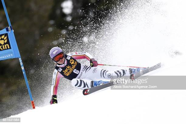 Viktoria Rebensburg of Germany competes during the Audi FIS Alpine Ski World Cup Women's Giant Slalom on March 10 2017 in Squaw Valley California