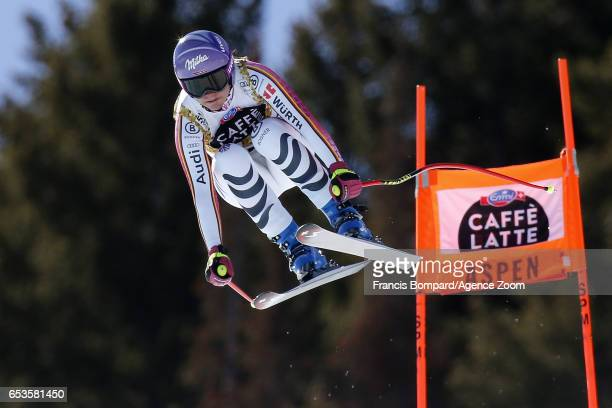 Viktoria Rebensburg of Germany competes during the Audi FIS Alpine Ski World Cup Finals Women's and Men's Downhill on March 15 2017 in Aspen Colorado