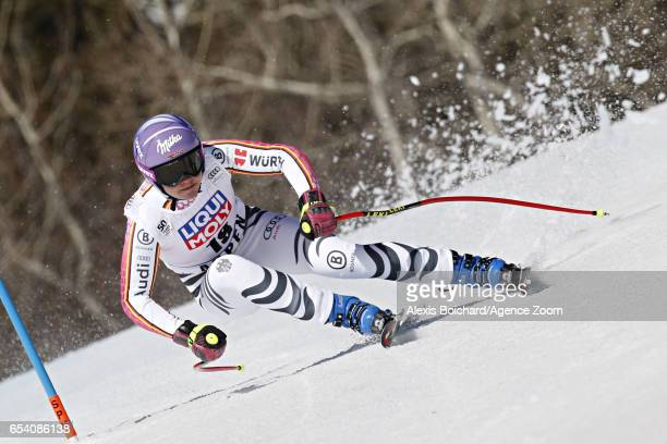 Viktoria Rebensburg of Germany competes during the Audi FIS Alpine Ski World Cup Finals Women's and Men's SuperG on March 16 2017 in Aspen Colorado