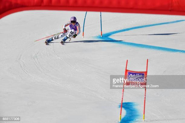 Viktoria Rebensburg of Germany competes during the Audi FIS Alpine Ski World Cup Finals Women's Giant Slalom and Men's Slalom on March 19 2017 in...