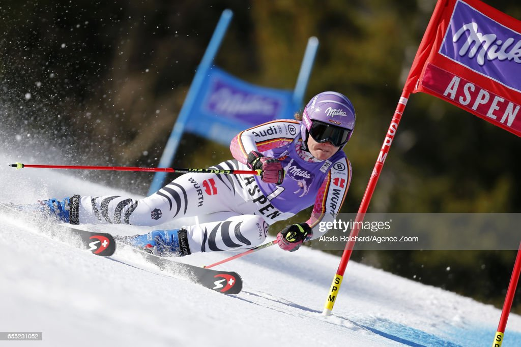Viktoria Rebensburg of Germany competes during the Audi FIS Alpine Ski World Cup Finals Women's Giant Slalom and Men's Slalom on March 19, 2017 in Aspen, Colorado