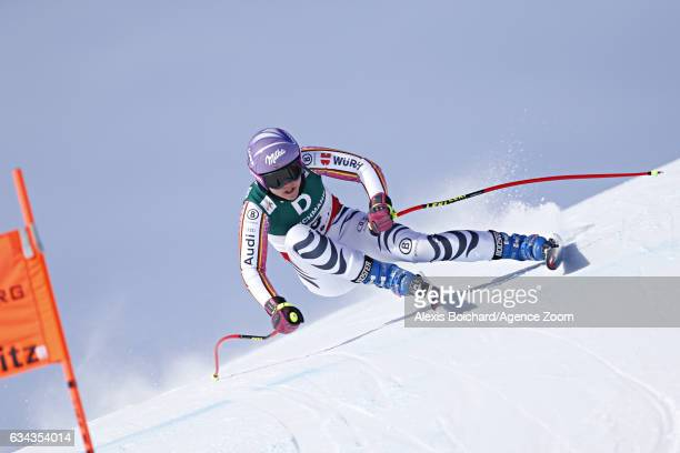 Viktoria Rebensburg of Germany competes during the FIS Alpine Ski World Championships Men's and Women's Downhill Training on February 09 2017 in St...