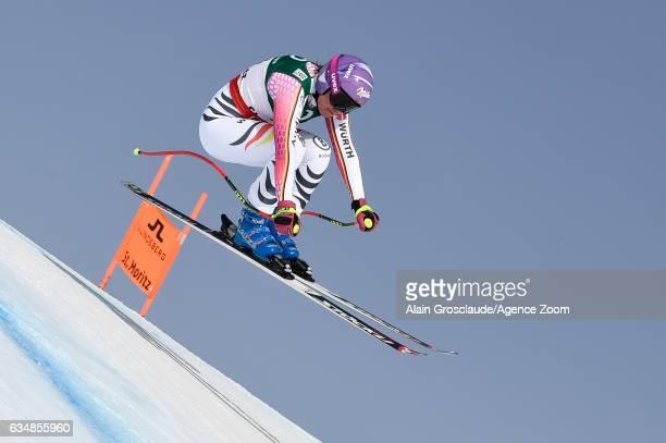 Viktoria Rebensburg of Germany competes during the FIS Alpine Ski World Championships Women's Downhill on February 12 2017 in St Moritz Switzerland