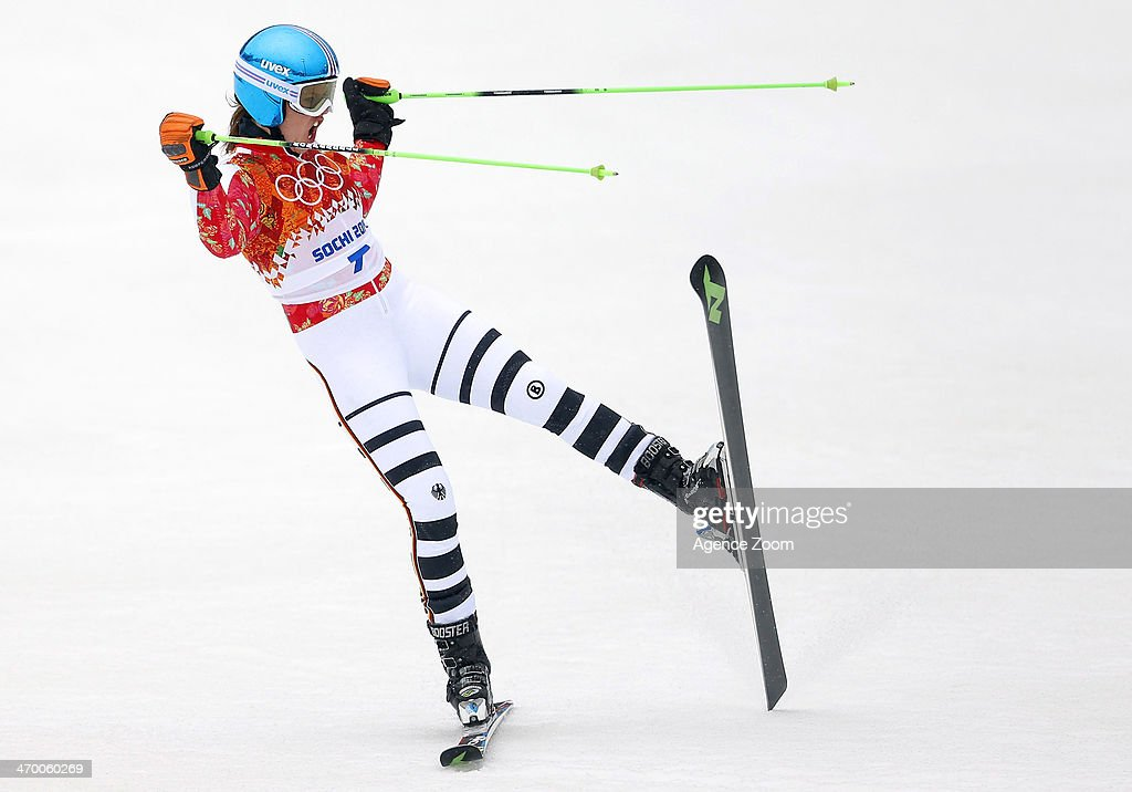 <a gi-track='captionPersonalityLinkClicked' href=/galleries/search?phrase=Viktoria+Rebensburg&family=editorial&specificpeople=4152387 ng-click='$event.stopPropagation()'>Viktoria Rebensburg</a> of Germany wins the bronze medal during the Alpine Skiing Women's Giant Slalom at the Sochi 2014 Winter Olympic Games at Rosa Khutor Alpine Centre on February 18, 2014 in Sochi, Russia.