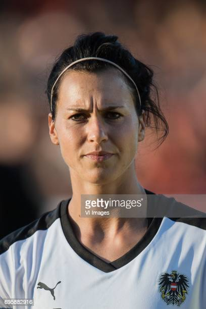 Viktoria Schnaderbeck of Austriaduring the friendly match between the women of The Netherlands and Austria at at The Adelaarshorst on on June 13 2017...