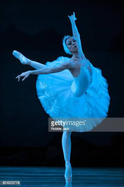 Viktoria Tereshkina as Odette in The Mariinsky Ballet's production of Konstantin Sergevev's revival of Marius Petipa and Lev Ivonov's Swan Lake at...