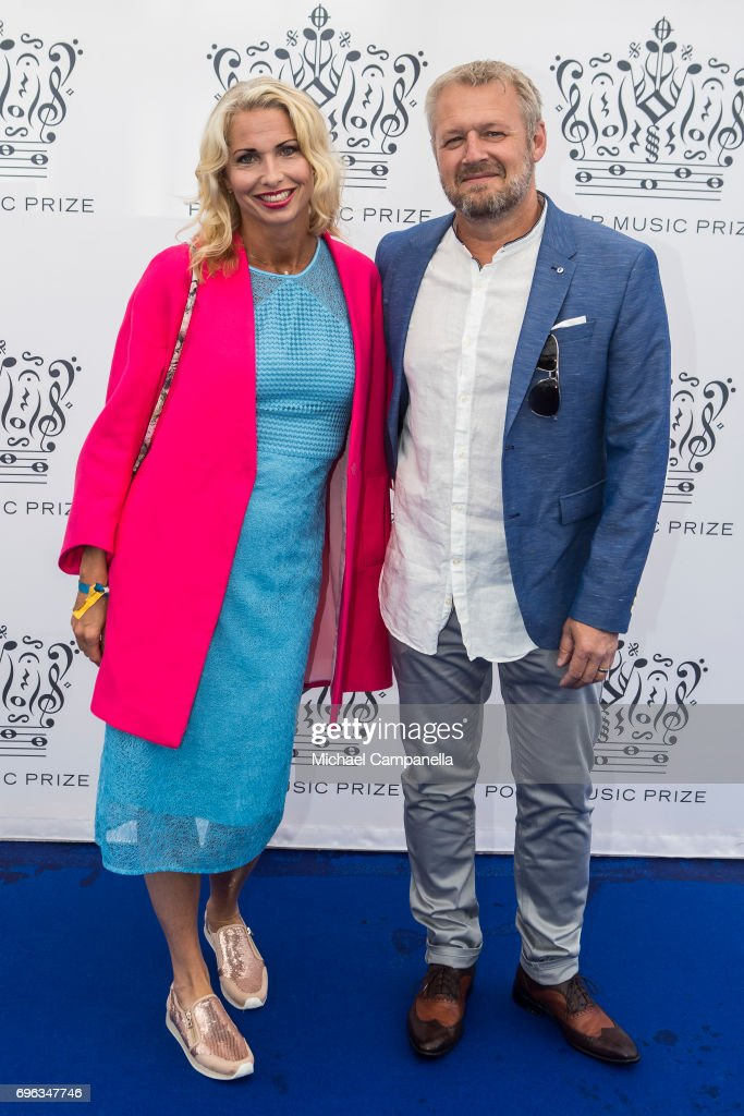 Viktoria Tolstoy Rasmus Kihlberg attend an award ceremony for the Polar Music Prize at Konserthuset on June 15, 2017 in Stockholm, Sweden.