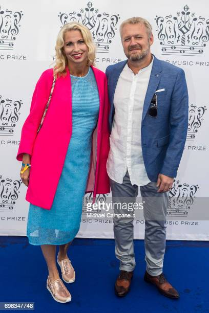 Viktoria Tolstoy Rasmus Kihlberg attend an award ceremony for the Polar Music Prize at Konserthuset on June 15 2017 in Stockholm Sweden