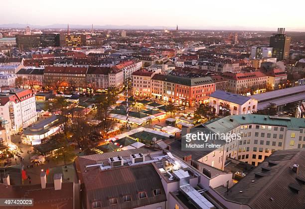 Viktualienmarkt in the evening - Munich