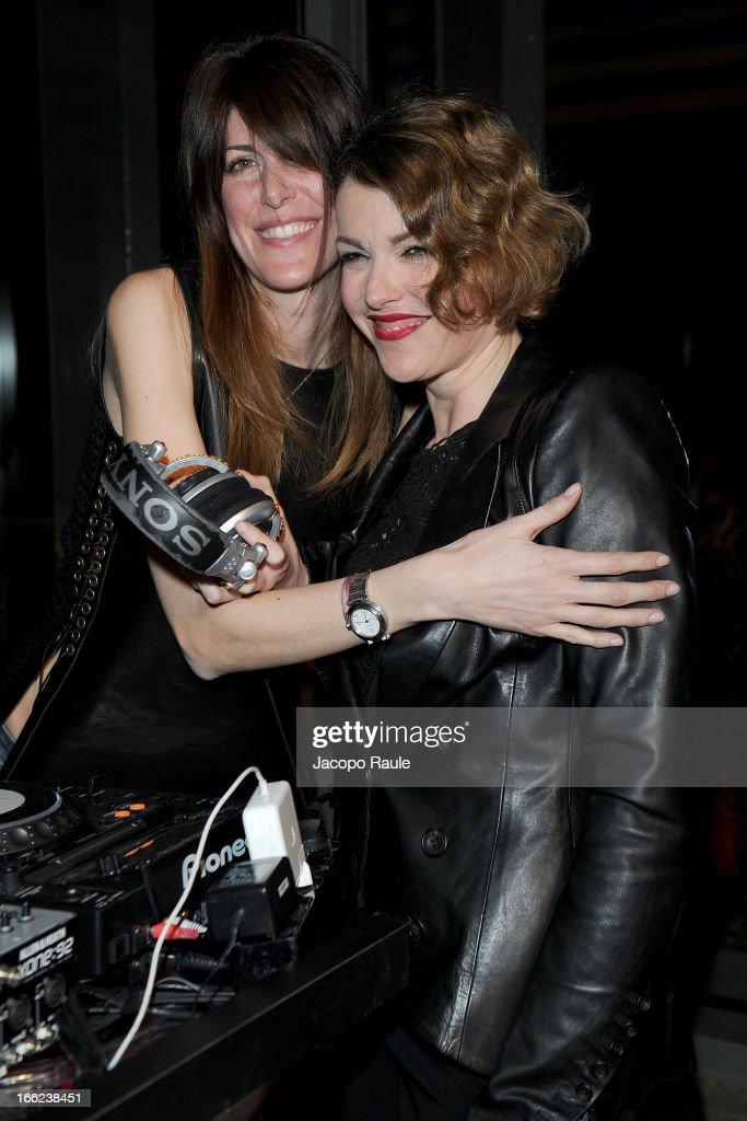 Viky Queen and Maria Mantero attend Ron Gilad for Molteni&C and Salvatore Ferragamo on April 10, 2013 in Milan, Italy.